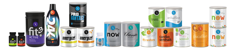 Reliv range of exceptional nutritional health supplement products