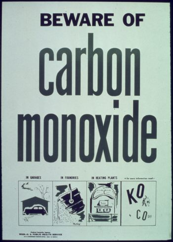 Beware of Carbon Monoxide Sign